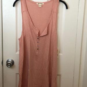 NWT Billabong Sleeveless Rose Pink Dress. Size Med